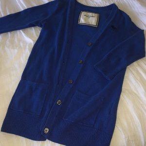 Abercrombie blue cardigan.